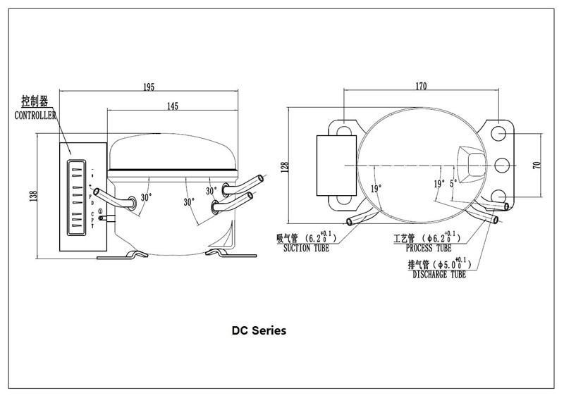 12V/24V DC Power coche compresor frigorífico congelador