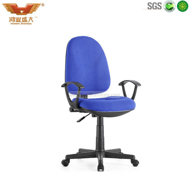 durable office chairs second hand massage for sale blu armrest fabric swivel staff computer chair hongye high quantity