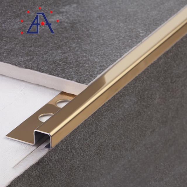 aluminum wall and floor tile trim