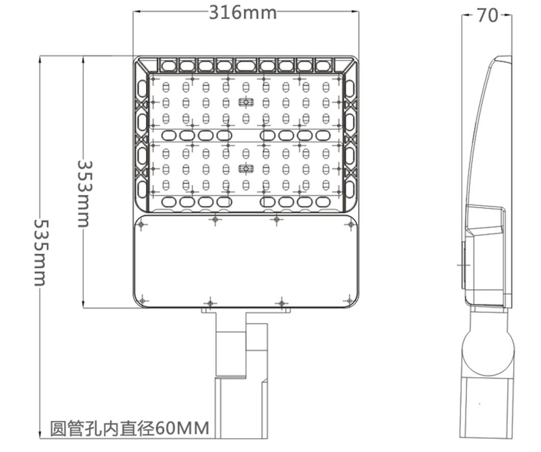 hight resolution of 150w led parking flood light size photocell sensor options