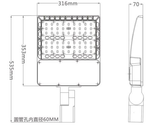 small resolution of 150w led parking flood light size photocell sensor options