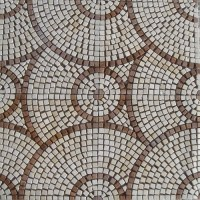 China Round Pattern Marble Stone Mosaic Floor Tile (HSM136