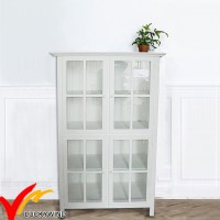 China White Glass Front Antique Vintage Wooden Display ...
