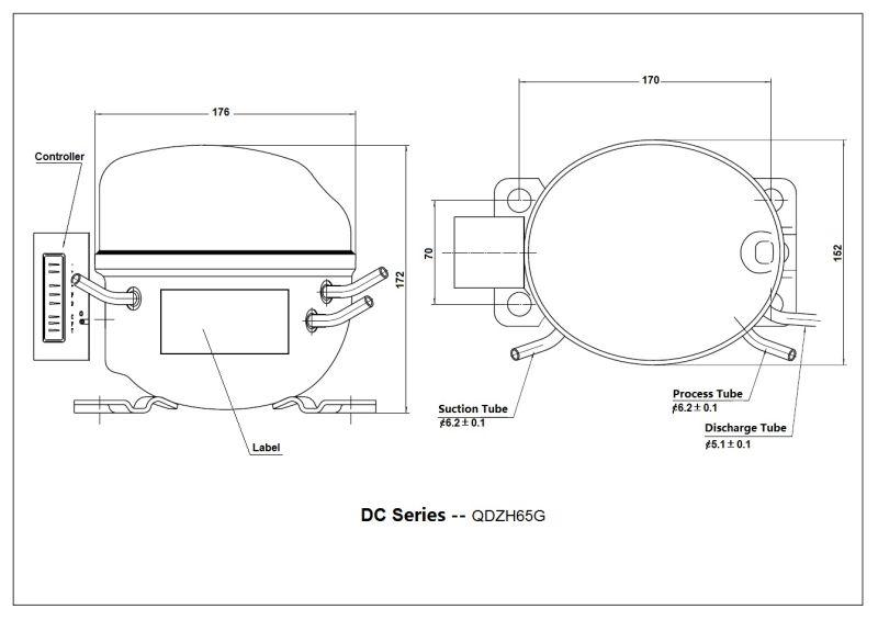 China Good Quality DC Compressor 12V/24V Refrigerator