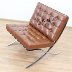 Barcelona Chair Leather Accent Chairs China Modern Classic Furniture Replica Designer Sofa Mid Century Armchair