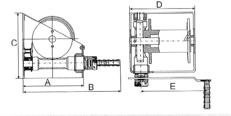 China 250kg to 1000kg H Type Industrial Winch /Manual
