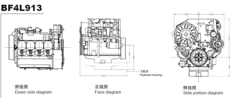 Tipo Diesel Ar-de refrigeração BF4L913 Engine de Deutz