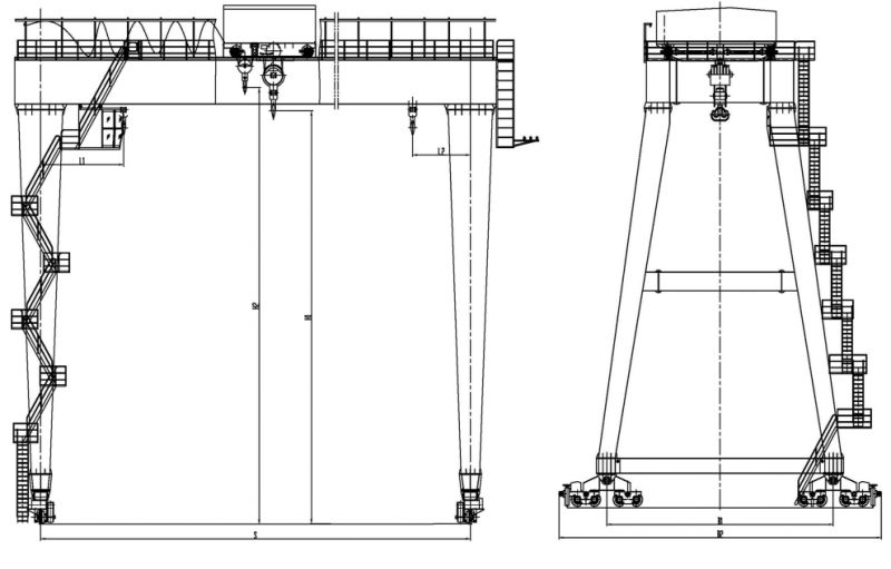 China Gantry Crane in Double Girder Type for Heavy Duty