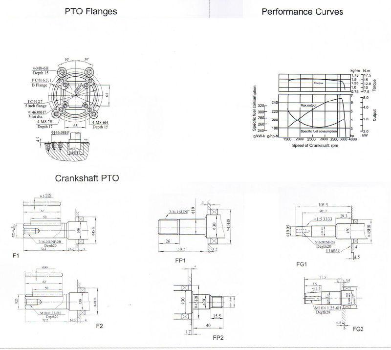 motore di Yanmar 6HP della copia raffreddato aria del
