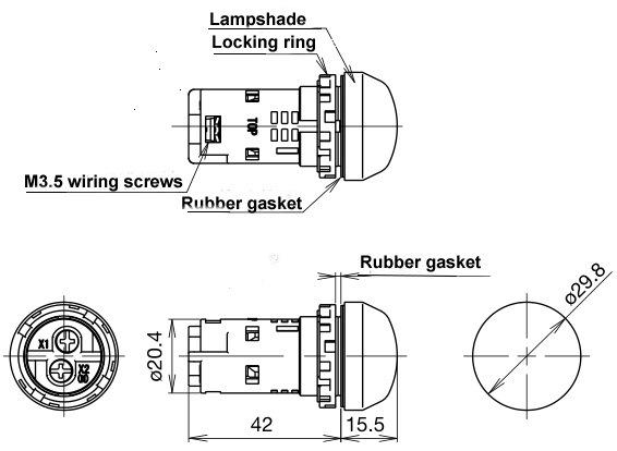 China Factory Price 22mm Mini LED Voltmeter Voltage Meter