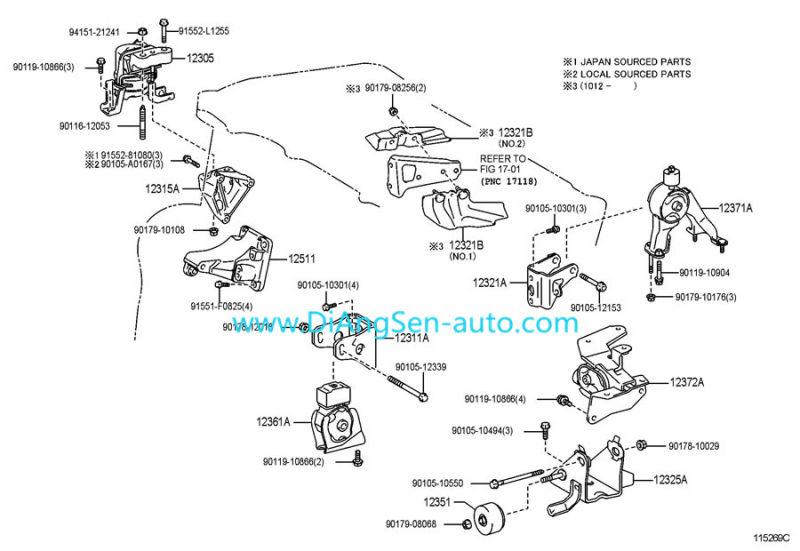 1998 Toyota Corolla Front Suspension Diagram