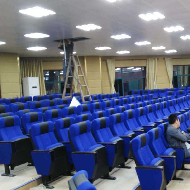 China Auditorium Seat Conference Hall Chairs Push Back