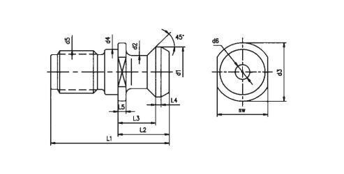 China CNC Machine Accessories Mazak Pull Stud Retention