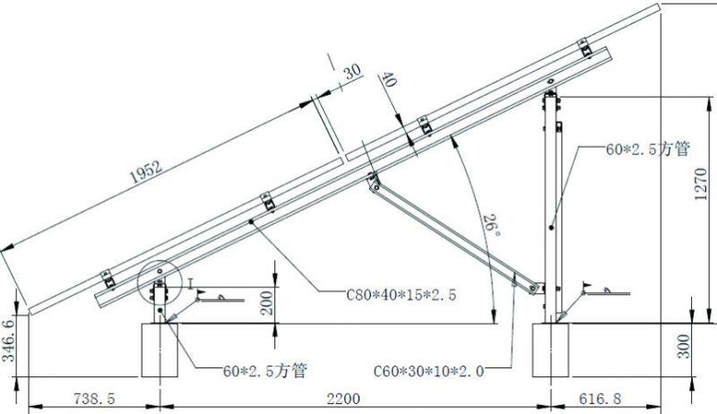 Sistema solare registrabile galvanizzato del montaggio