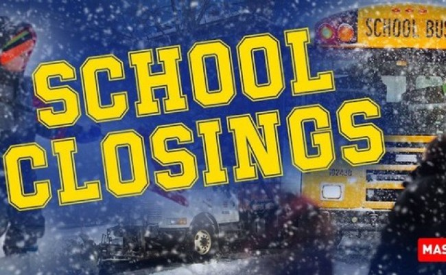 School Closings And Delays For Massachusetts For Wednesday