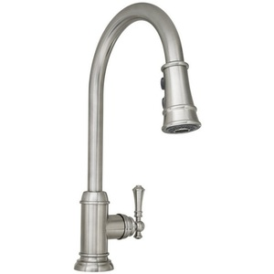 stainless kitchen faucet table white mirxcam100ss amberley pull out spray steel