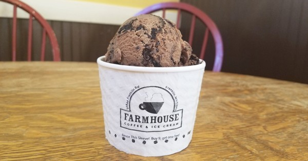 The Michigan Pothole ice cream from Farmhouse Ice Cream & Coffee in Franklin, MI. (Photo by Deanna Yow from Farmhouse Coffee & Ice Cream)