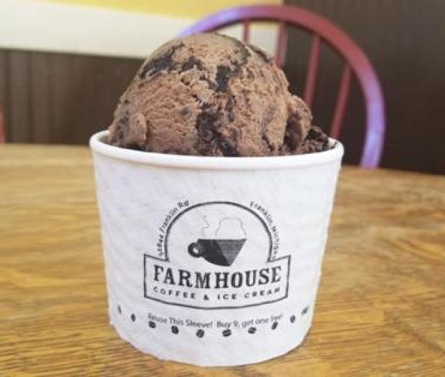 The Michigan Pothole Ice Cream From Farmhouse Ice Cream Coffee In Franklin Mi