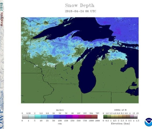 Snow Cover On April 24 2018