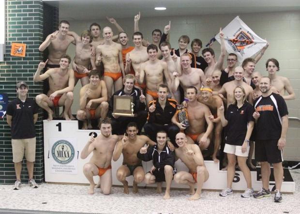 Kalamazoo College mens swim team captures first