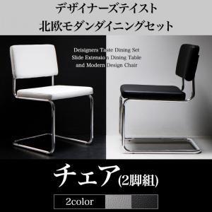 【テーブルなし】チェア2脚セット 座面カラー:ホワイト デザイナーズテイスト 北欧モダンダイニング CHESCA チェスカ