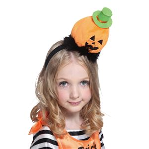 【コスプレ】 ゆるゆるパンプキンカチューシャ オレンジ