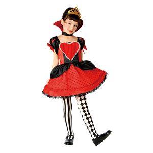 子供用 コスプレ衣装 【ラブリーハートクイーン 120cmサイズ】 ボタン仕様 ポリエステル 〔ハロウィン〕