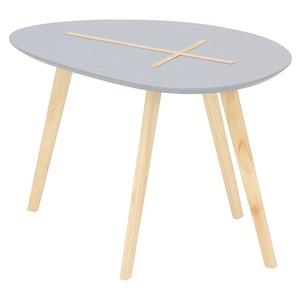 北欧風 サイドテーブル/ローテーブル 【幅60cm グレイ】 木製 『クローセ』 〔リビング〕