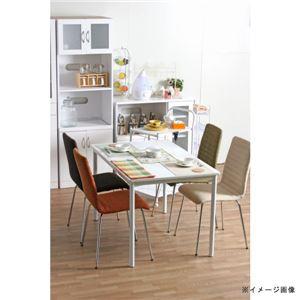 北欧風 ダイニングテーブル/リビングテーブル 単品 【幅120cm】 ホワイト スチールフレーム 『シュクル』