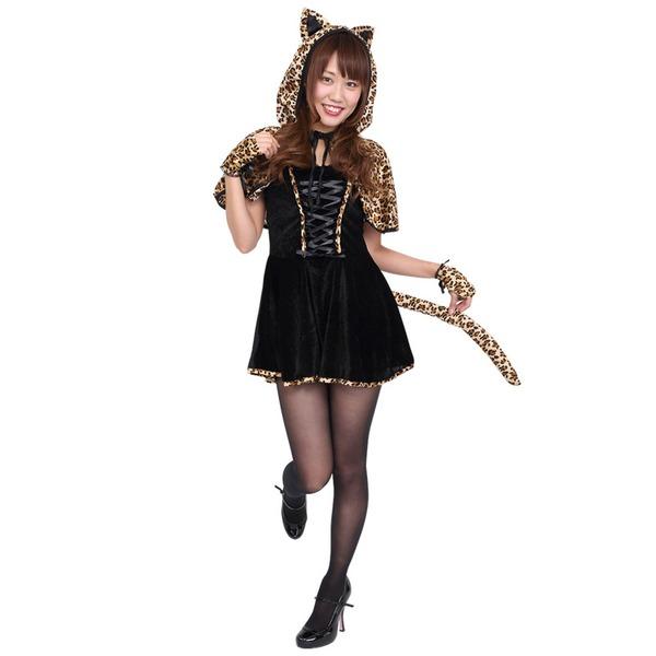 【コスプレ】Patymo レオパードフードキャット  ハロウィン コスプレ 衣装店