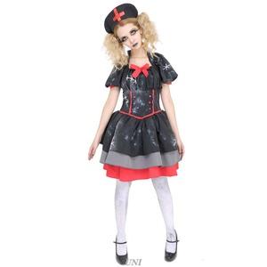 コスプレ衣装/コスチューム 【Crazy Black Nurse クレイジーブラックナース】 ワンピース 『DEath of Doll』 〔ハロウィン〕