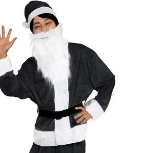クリスマスコスプレ/衣装 【BLACK VELVET】 メンズサンタ 『Men's Santa costume』 〔イベント パーティー〕