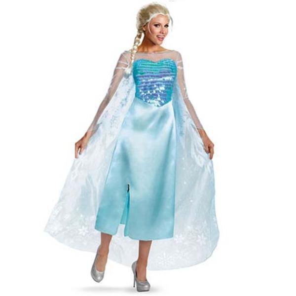 ディズニー DISNEY アナと雪の女王エルサコスチューム 大人用M ハロウィン コスプレ 衣装店