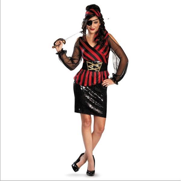 ディズニー DISNEY パイレーツ・オブ・カリビアン スパンコール セクシー系女海賊 コスチュームS ハロウィン コスプレ 衣装店