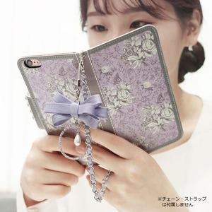 MrH(ミスターエイチ)スマホウォレットケース/ガーデンエイジ・ヴァイオレットBy iphone6splus