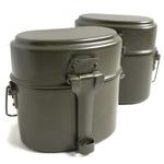 イタリア軍放出アルミ飯盒 オリーブ未使用デットストック品