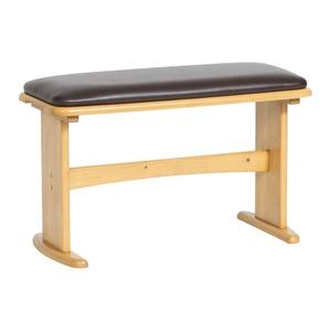 ダイニングベンチチェア/スツール 【幅69cm】 ナチュラル   木製脚 張地:合成皮革/合皮 コンパクトサイズ