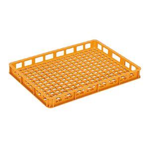 (業務用10個セット)三甲(サンコー) 麺用コンテナボックス 【加熱殺菌用】 9型 オレンジ