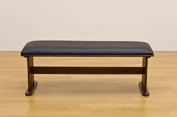 ダイニングベンチチェア/スツール 【幅113cm】 木製 張地:合成皮革/合皮 Coventry ナチュラル