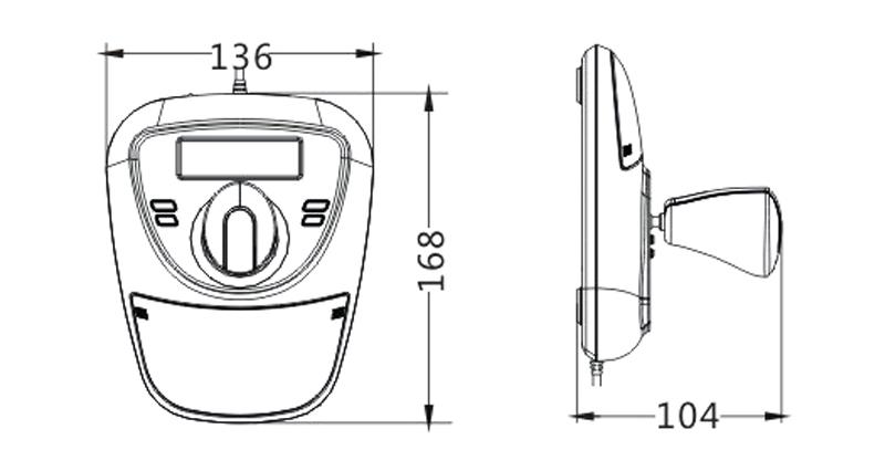 PTZ Security Camera Controller, 3 Axis Joystick, Compact