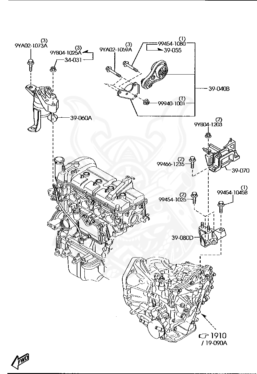 Mazda 3 Engine Mount Diagram