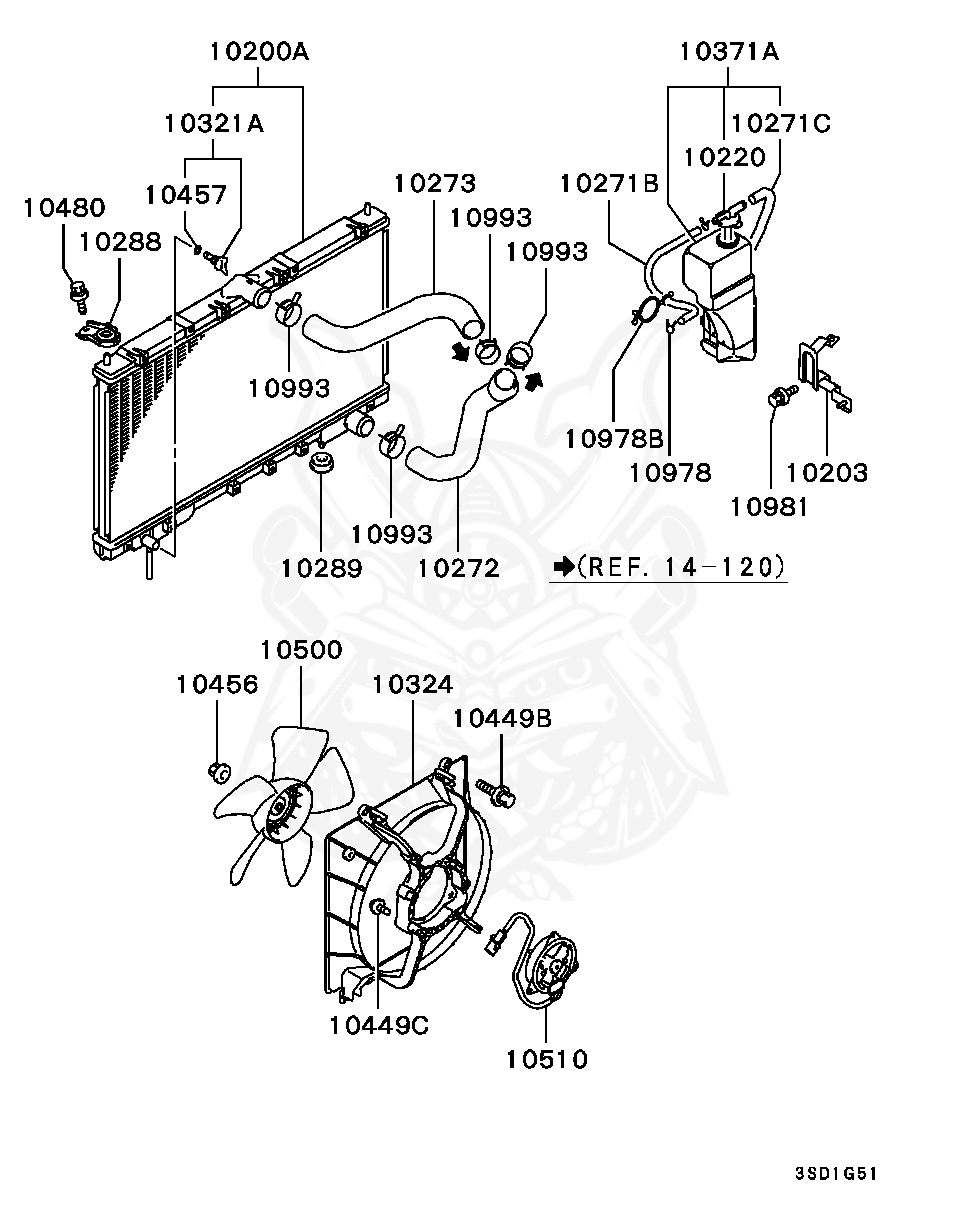 1995 Mitsubishi Eclipse Cooling System Diagram