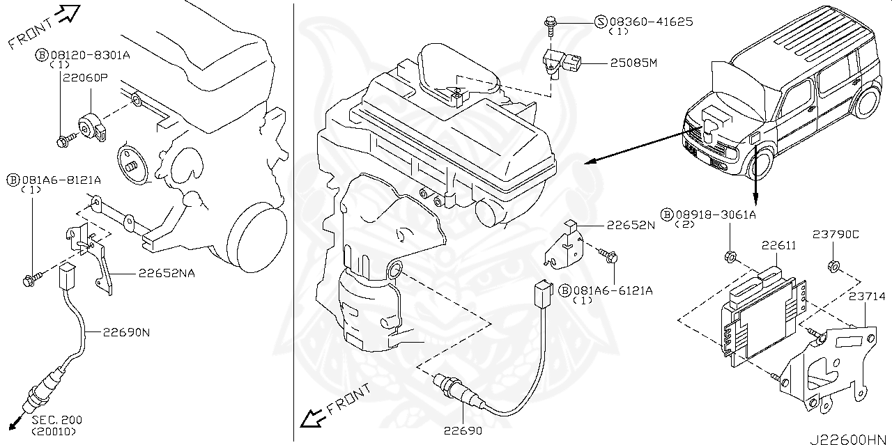 Nissan Cube Engine Diagram