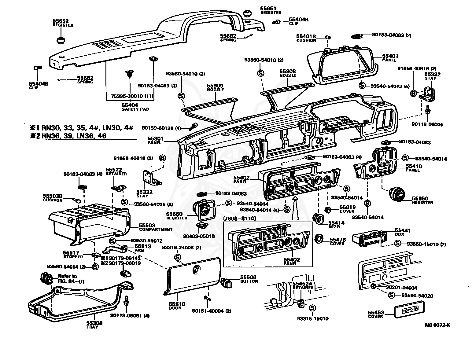 80 Toyotum Pick Up Engine Part Diagram