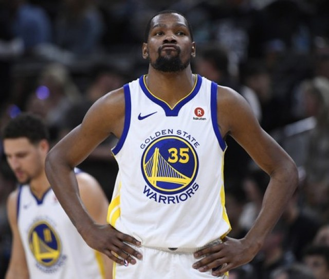Golden State Warriors Kevin Durant Will Lead His Team Against The Houston Rockets In The