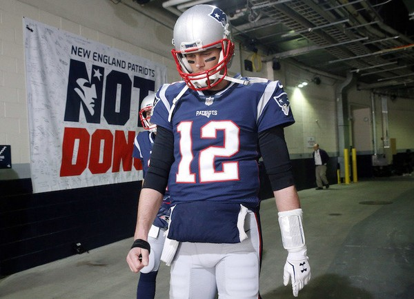 Image result for brady thumb afc championship game