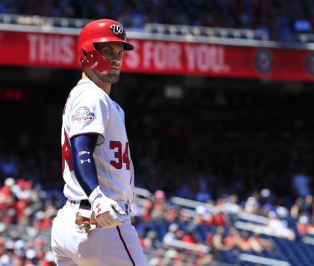Washington Nationals Outfielder Bryce Harper Headlines The  Home Run Derby At Nationals Park In Washington