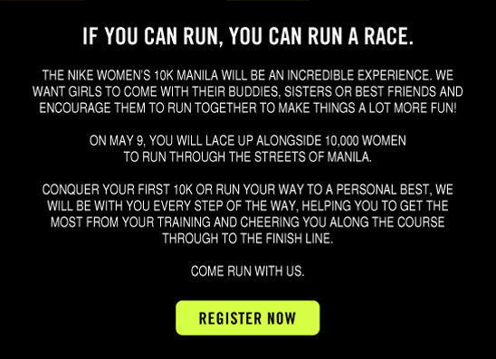 IF YOU CAN RUN, YOU CAN RUN A RACE. | REGISTER NOW