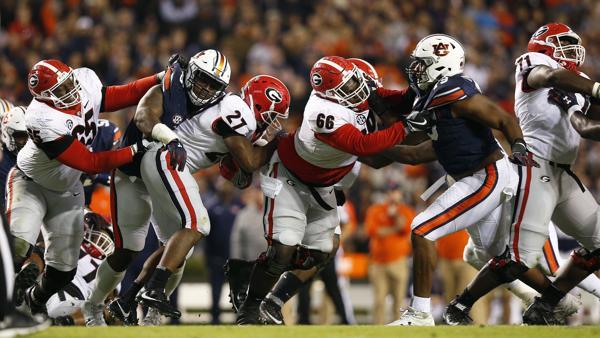 Image result for Auburn Tigers vs. Georgia Bulldogs
