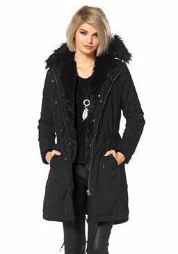 Пальто с искусственным мехом Laura Scott